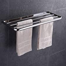honphier handtuchhalter chrom abgerundete ecke design handtuchstangen edelstahl mit haken handtuchstange bad 60 cm handtuchhalter für badezimmer