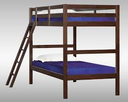 brown wood kids bunk bed simmons mission hills twin twin bunk
