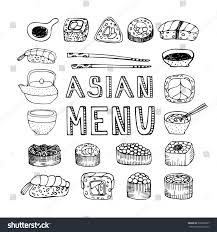 Asian Menu Asian Kitchen Asian Food Stock Vector