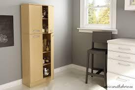 Sterilite 4 Shelf Cabinet by Amazon Com South Shore Axess 4 Shelf Pantry Storage Natural