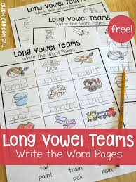 FREE Long Vowel Teams Write The Word Pages