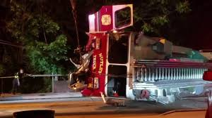 100 Fire Truck Accident Crash W Roll Over RecoveryAudio Nutley Nj FD Ladder 1