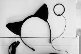 how to make cat ears grande inspired black cat ear headband lace cat ears