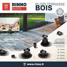 plot reglable pour terrasse bois plot faible hauteur rinno disponible en stock livraison avec