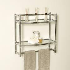 Bathroom Towel Bar With Shelf by Bathroom Shelves Glass Chrome Towel Shelf Bathroom Shelf With