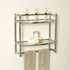 Bathroom Wall Cabinet With Towel Bar White by Georgeous Bathroom Wall Shelves Faitnv Com