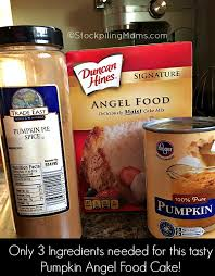 Pumpkin And Cake Mix Weight Watchers by Pumpkin Angel Food Cake