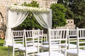 White Chiavari Chairs First Time In Dubrovnik On Haya And Pertaining To Wedding Inspirations 9