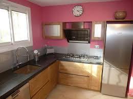 cuisine bois plan de travail noir cuisine noir laqu plan de travail bois affordable cuisine noir