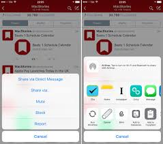 Twitter Adds iOS 8 Sheet Support to iPhone App – MacStories