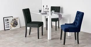 Set Of 2 Dining Chairs In Midnight Grey Velvet Flynn