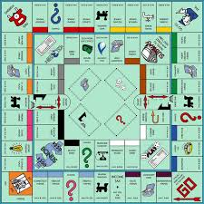 Printable Monopoly Board Game Template Paper Craft