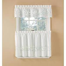 Dotted Swiss Curtains White by Tier Curtains Cafe Curtains Kmart