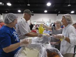 Pinecrest Christmas Tree Farm by Community Gathers To Package 65 000 Meals For Rise Against Hunger