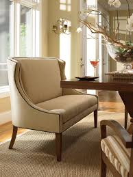 Fancy Curved Settee For Round Dining Table Captivating
