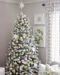 Hayneedle Flocked Christmas Trees by Lovely Decorated Flocked Christmas Trees Home Designs Ideas