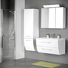 de komplett badezimmer set hochglanz weiß