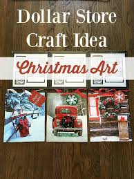 Awesome Dollar Store Christmas Art For 2 Each