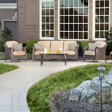 Patio Conversation Sets Canada by Shop Hanover Outdoor Furniture Gramercy 4 Piece Wicker Patio