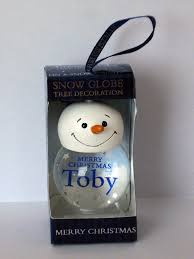 Christmas Tree Name Baubles by Toby U0027 Personalised Snow Globe Christmas Tree Decoration Amazon Co