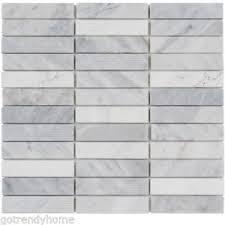 White Carrara Marble Stone Mosaic Tile Texture Blend