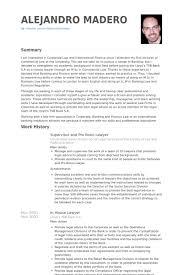 Supervisor And Pro Bono Lawyer Resume Example