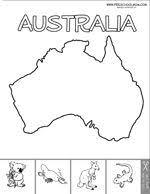Color The Continents Australia