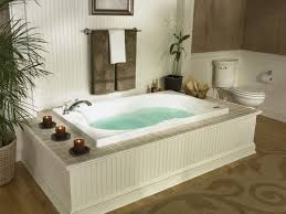 BathroomStunning Spa Like Bathroom With Low Drop In Bathtub Also Candle Decor