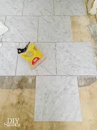 diy grouted vinyl floor tiles diy show diy decorating