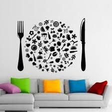 Cutlery Wall Vinyl Decal Food Stickers Cafe Art Interior Housewares Design Home Kitchen Decor