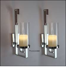 wall sconce ideas brown modern candle inside sle black sconces