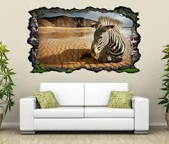 3d wandtattoo afrika tier zebra wüste sand selbstklebend wandbild wandsticker wohnzimmer wand aufkleber 11o145