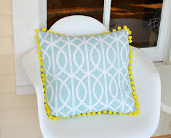 $3 Fabric Napkins to cute} Pom Pom Pillow Cover View From The