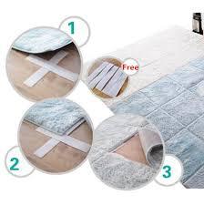 paillasson a la coupe 9 couleurs puzzle tapis à cheveux carpet salon paillasson