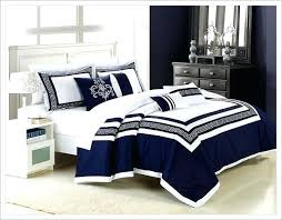 Spacious Navy Blue forters And White forter Sets