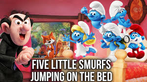 Caillou In The Bathtub Parody by Five Little Smurfs Jumping On The Bed Five Little Monkeys