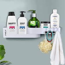 badezimmer eckregal selbstklebend duschablage drehbar ohne bohren duschkorb dusche organizer aufbewahrung ecke mit 4 haken für badezimmer korb küche
