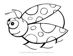 Cute Ladybug Coloring Pages Inside Bug For Preschool