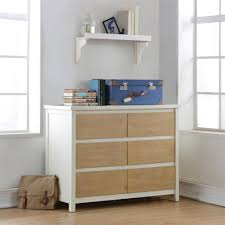 South Shore Libra Double Dresser With Door by South Shore Cookie 6 Drawer Soft Gray And Pure White Dresser 10276