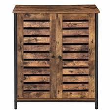 vasagle kommode schrank sideboard beistellschrank mit lamellentüren multifunktional wohnzimmer schlafzimmer flur industrie design vintage