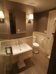 Half Bathroom Ideas With Pedestal Sink by Bathroom Design Ideas Wainscoting Here U0027s An Elegant Half Bath