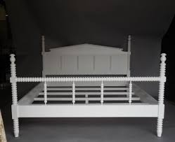 Spindle Headboard And Footboard by Custom Painted Wood King Size Bobbin Bed With Spindle Footboard