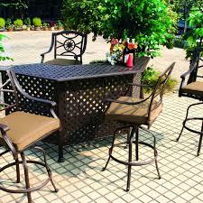 darlee ten star 5 piece cast aluminum patio party bar set with