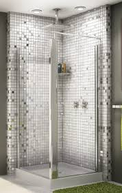 beautiful picture of bathroom shower decoration using white glass