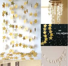Paper Star Garlands 4m Long Wall Hanging Birthday String Chain Party Banner Handmade Children Room