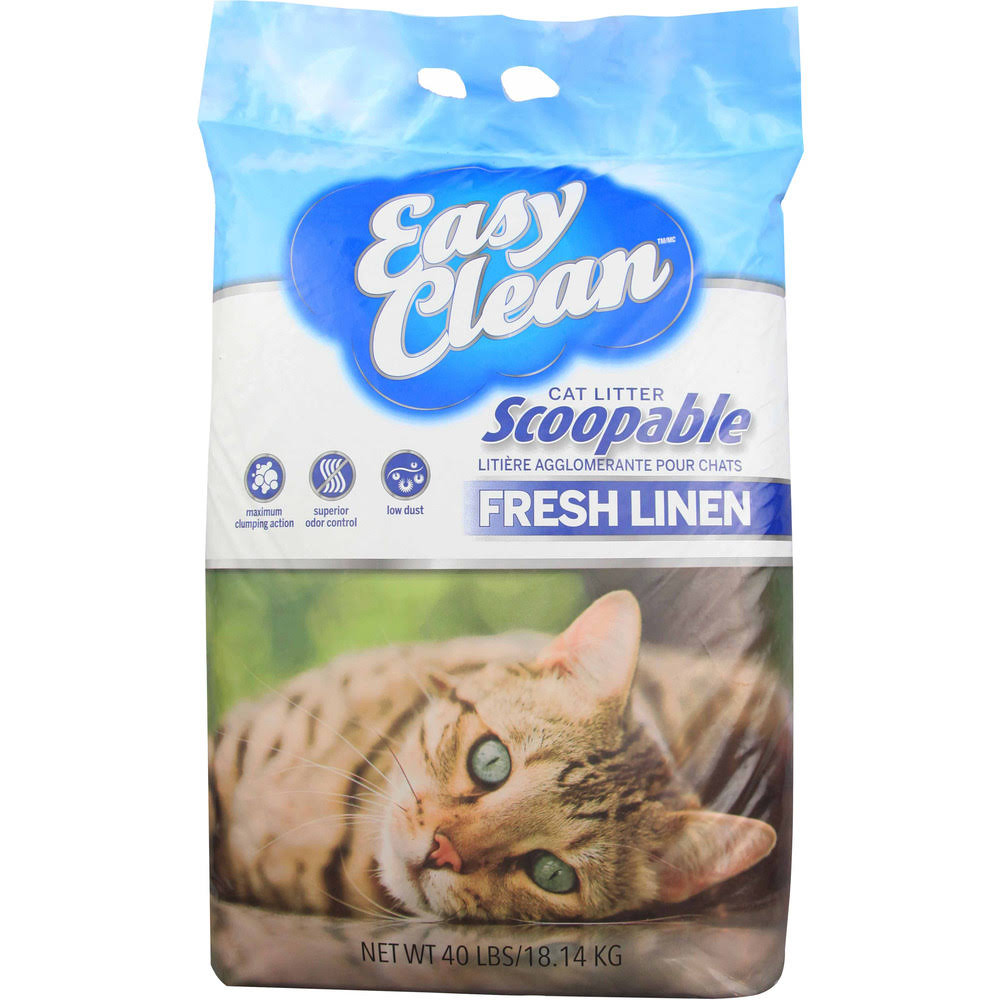 Pestell Fresh Linen Scoopable Clay Cat Litter 40 Pound