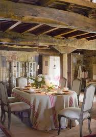 Country Dining Room Ideas by French Country Dining Room Ideas With Wooden Roof And Armless