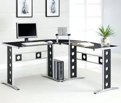Black Gloss Corner Computer Desk by Home Office White Desk U2013 Netztor Me