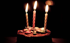 Chocolate Birthday Cake And Candles HD
