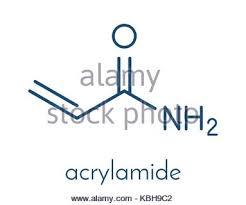 Skeletal Formula Acrylamide Molecule Polyacrylamide Building Block And Heat Generated Food Pollutant